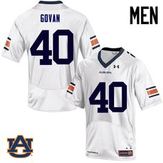 Men Auburn Tigers  40 Eugene Govan College Football Jerseys Sale-White  Auburn Football 7f9b3260b