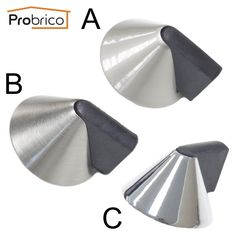 probrico door stopper ds8295 zinc alloy conical powerful door holder catch rubber door