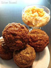 Silver Boxes: Banana Bran Muffins with Apricot Butter