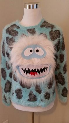 Ugly Christmas Sweater Yeti Abominable Snowman by UglySweatersForU accessories diy This item is unavailable Diy Ugly Christmas Sweater, Ugly Sweater Party, Xmas Sweaters, Winter Christmas, Christmas Crafts, Christmas Outfits, Christmas Snowman, Christmas Clothing, Ugly Sweater Contest