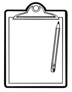 Clipboard and pencil Borders For Paper, Borders And Frames, Tracker Mood, Coloring Sheets, Coloring Pages, Page Borders, Bullet Journal Ideas Pages, Note Paper, Border Design