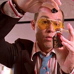 """Fear and Loathing in Las Vegas  """"As your attorney, I advise you to take a hit out of the little brown bottle in my shaving kit. You won't need much, just a tiny taste."""""""