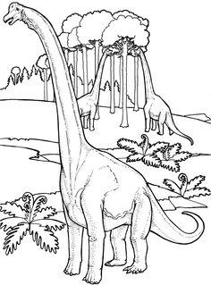 coloriage brachiosaures