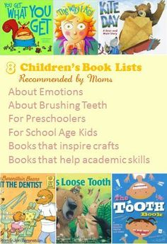 8 books lists for kids of various themes recommended by moms