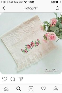 This Pin was discovered by Nak Diy And Crafts, Cross Stitch, Embroidery, Crochet, Sultan, Galleries, Embroidered Towels, Canvas, Cross Stitch Embroidery