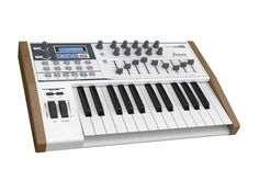 ARTURIA KeyLab 230411 25-Key MIDI Controller Includes Analog Lab software with 5000 synth sounds. All presets are carefully selected from the Arturia Classic Synths (mini V, Modular V, CS-80V, ARP 2600 V, Prophet V, Prophet VS, SEM V and Jupiter-8V) and from Wurlitzer V. Fast preset sorting to your quickly find your sound: by Instrument... Read More Here: http://wachka.com/product/arturia-keylab-230411-25-key-midi-controller/