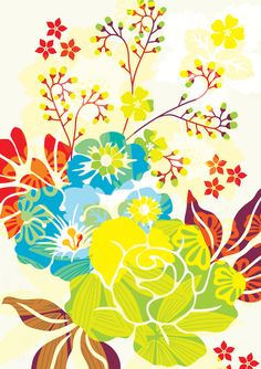 Hanna Werning-Contemporary Greeting Cards, Mini Cards, Postcards and Gift Wrap : BEAUMONDE | Flowerful