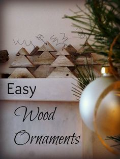 Wood Ornaments Easy DIY | Wood Christmas Ornaments