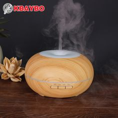 300ml Air Humidifier Aroma Essential Oil Diffuser Wood Grain Ultrasonic Cool Mist Humidifier for Office Home Bedroom Living Room