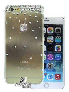 Rainbow AB Swarovski Crystal Clear Logo iPhone 6 by crystalzone