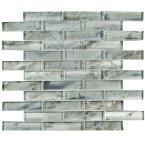 Merola Tile Sterling Super Subway Silver 11-3/4 in. x 12 in. x 9 mm Glass Mosaic Tile-GFNSSSSL - The Home Depot