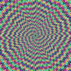 colourful optical illusion.