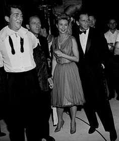 Dean Martin, Bing Crosby, Mitzi Gaynor and Frank Sinatra on the set of The Frank Sinatra Show