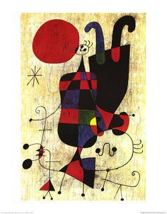 Figures and Dog in front of the Sun, 1949 by Joan Miro Joan Miro Paintings, Francis Picabia, Bee Art, Spanish Artists, Wall Art For Sale, Jewish Art, Doodle Art, Art Pictures, Unique Art