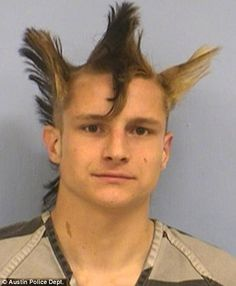 bad 80s hair | Bad hair day: Man with bizarre triple mohawk arrested for attacking ...