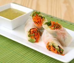 #vegan summer rolls with miso sauce- #healthy #recipe #dinner #lunch