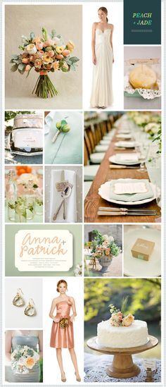 REVEL: Peach + Jade Wedding Inspiration