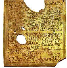 Superb example of a Roman military diploma, June 13, 80 AD (under Titus) of the Cohors Montanorum, Carnutum
