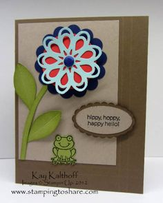 Happy Hello by Speedystamper - Cards and Paper Crafts at Splitcoaststampers
