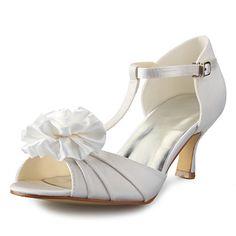 Women's Shoes Peep Toe Stiletto Heel Satin Sandals Wedding Shoes More Colors available - USD $ 49.99