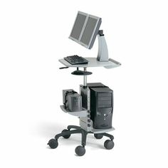 Mobile Laptop and Computer Stand | Adjustable POC Cart from Anthro