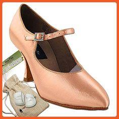 "Women's Ballroom Dance Shoes Tango Wedding Salsa Dance Shoes Flesh Satin CD5100MEB Comfortable - Very Fine 3"" Heel 5.5 M US [Bundle of 5] - Athletic shoes for women (*Amazon Partner-Link)"