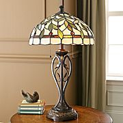 """I've always wanted a tiffany lamp...reminds me of that old movie """"Pollyana"""" with Haley Mills..don't ask me why!  Would look good with dark leather furniture and light walls..."""