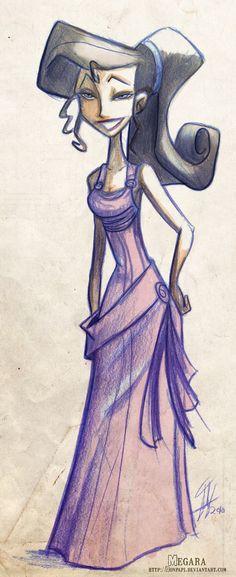Megara by DonPapi on DeviantArt Wall E, Toy Story, Pixar, Wolf, Hercules, Disney Characters, Fictional Characters, Aurora Sleeping Beauty, Deviantart