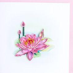 Rose de Lotus BL984 6 x 6 par QuillingCard sur Etsy