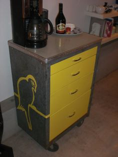 repurposed cole steel file cabinet by rogue decor co. cherry and ...