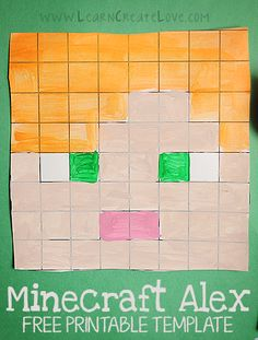 It's time for another Minecraft printable craft! This time, Alex is up for printing! Minecraft Classroom, Minecraft Face, Minecraft Activities, Minecraft Crafts, Art Classroom, Minecraft Printable, Minecraft Bedroom, Minecraft Furniture, Minecraft Skins
