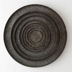 Habit & Form Circle Tray, Dark Zinc in Garden PLANTERS Trays + Saucers at Terrain