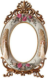 GIFY I OBRAZKI: RAMKI RÓŻNE Mirrored Picture Frames, Photo Frame Prop, Family Photo Frames, Borders And Frames, Ornaments Design, Oval Frame, Flower Frame, Vintage Colors, Shabby Chic