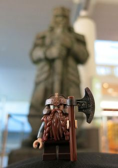 LEGO Lord of the Rings Dwarven Sentinel at Auckland Airport