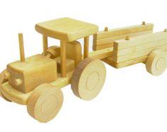 10% OFF Wooden Truck with building blocks by PolishFolkArtShop