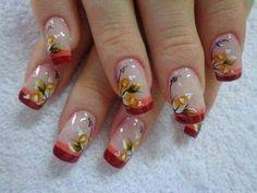unhas decoradas com rosas - 19