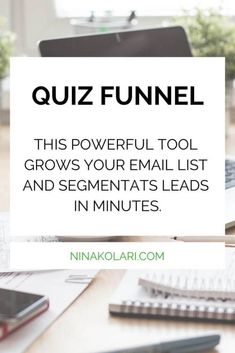 Quiz funnel is one of the most effective email list building tools to use. A quiz funnel is basically set of questions that you ask from your lead in order to find out more about them and their business.   Read my review of the of the most popular quiz apps in the market. Click to save to read later.