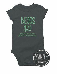 Personalizado Bebé Chaleco Bodysuit Gracioso diciendo A7