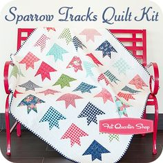 Sparrow Tracks Quilt Kit<br/>Featuring Gooseberry by Lella Boutique