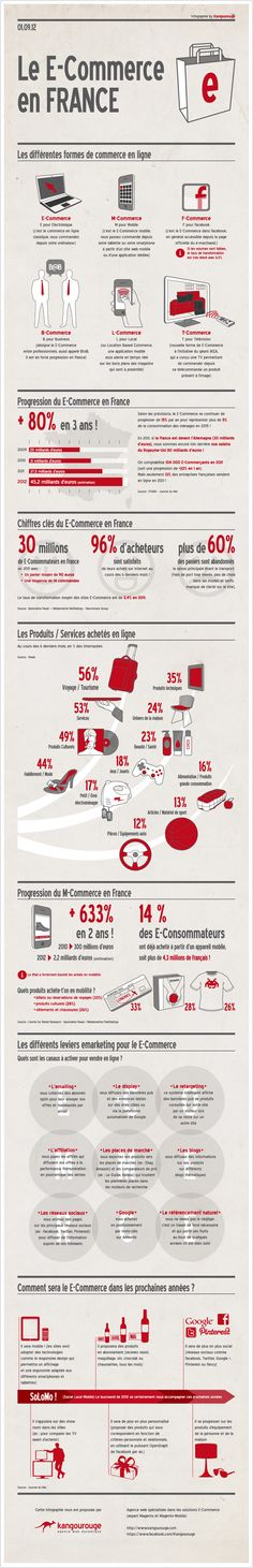 E-Commerce in France, by Blog Cible web   | Visit our new infographic gallery at http://visualoop.com/