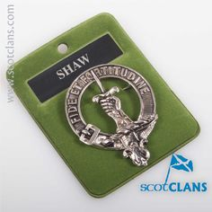 Shaw Clan Crest Cap Badge. Free worldwide shipping available.