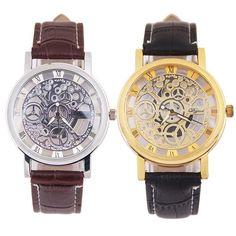 47ab714e73b42 Mance New Fashion Classic Dial Skeleton Men s Leather Band Mechanical  Luxury Sport Army Skeleton Quartz Wrist · Women s WatchesSport ...