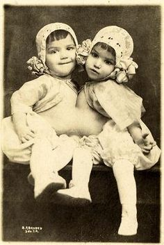 "Guadalupe & Josephine Hinojosa, ""The Cuban Twins"", circa 1914.  Sorry for the small scan size on this one."