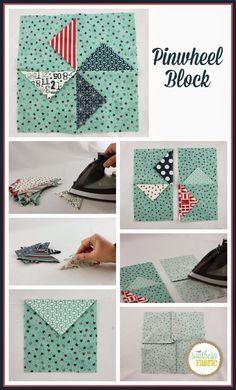 Southern Fabric: Simple Pinwheel Block Tutorial