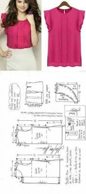 Amazing Sewing Patterns Clone Your Clothes Ideas. Enchanting Sewing Patterns Clone Your Clothes Ideas. Blouse Patterns, Clothing Patterns, Blouse Designs, Blouse Sewing Pattern, Make Your Own Clothes, Diy Clothes, Sewing Patterns Free, Free Sewing, Sewing Blouses