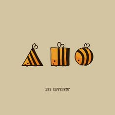 Buy BEE DIFFERENT Art Print by huebucket. Worldwide shipping available at Societ. Cute Puns, Funny Puns, Cute Cards, Diy Cards, Karten Diy, Bee Art, Humor Grafico, Bee Happy, Bees Knees