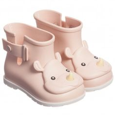 Mini Melissa Pink Rhino Short Wellies at Childrensalon.com