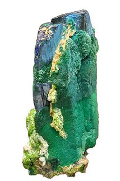 Interesting Azurite, Malachite and Duftite combination. From Tsumeb, Namibia
