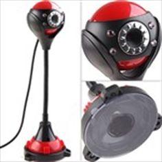0.3MP USB 2.0 Webcam Web Camera with LED Lights for Notebook Desktop PC Driver-Free      $12.15