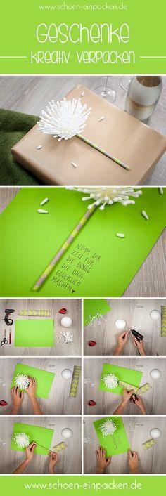 Nimm dir Zeit für Dinge, die dich glücklich machen! Zum Beispiel beim Geschenke kreativ verpacken. Ich zeig dir wie :)